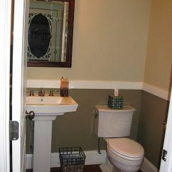 Pictures Of Chair Rails In Bathrooms Stand Test Wikipedia Pedestal Sink Dark Floors Rail Half Bath Ideas
