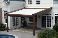 homemade patio shades | ... Gennius Pergola Awning with ...