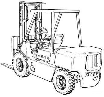 Hyster Forklift G006 Series: H6.00XL (H135XL; H135XL2), H7