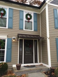 Concave Metal door awning in West Chester Township, OH ...