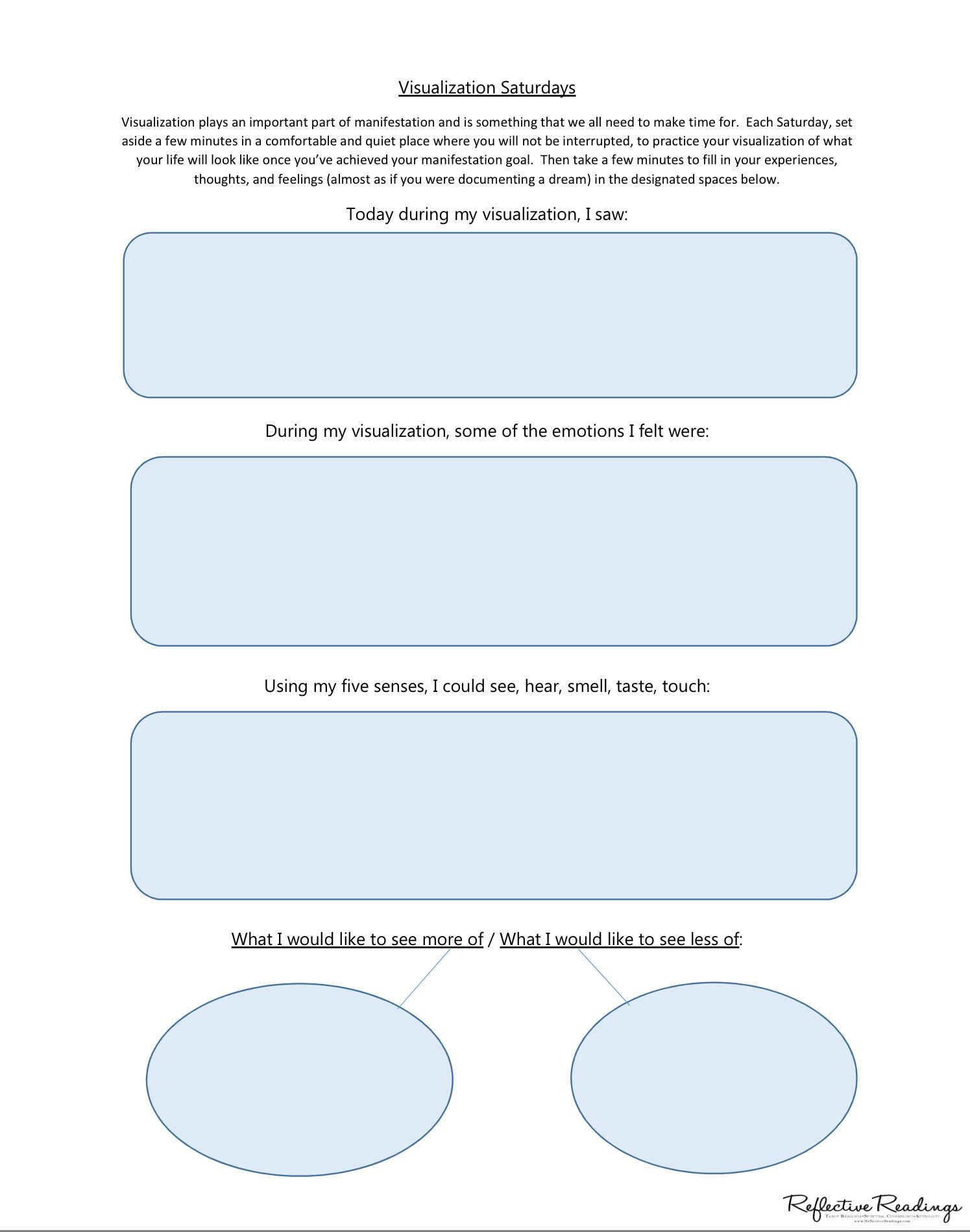 Use This Worksheet When You Practice Visualization Make