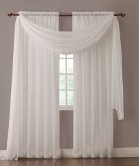 Warm Home Designs Pair of White Sheer Curtains or Extra ...