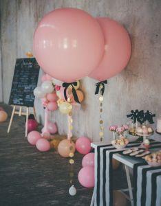 Giant pink balloon round by lovelypartyboutique also globos helio decorar rincon bodas mi qmple pinterest rh