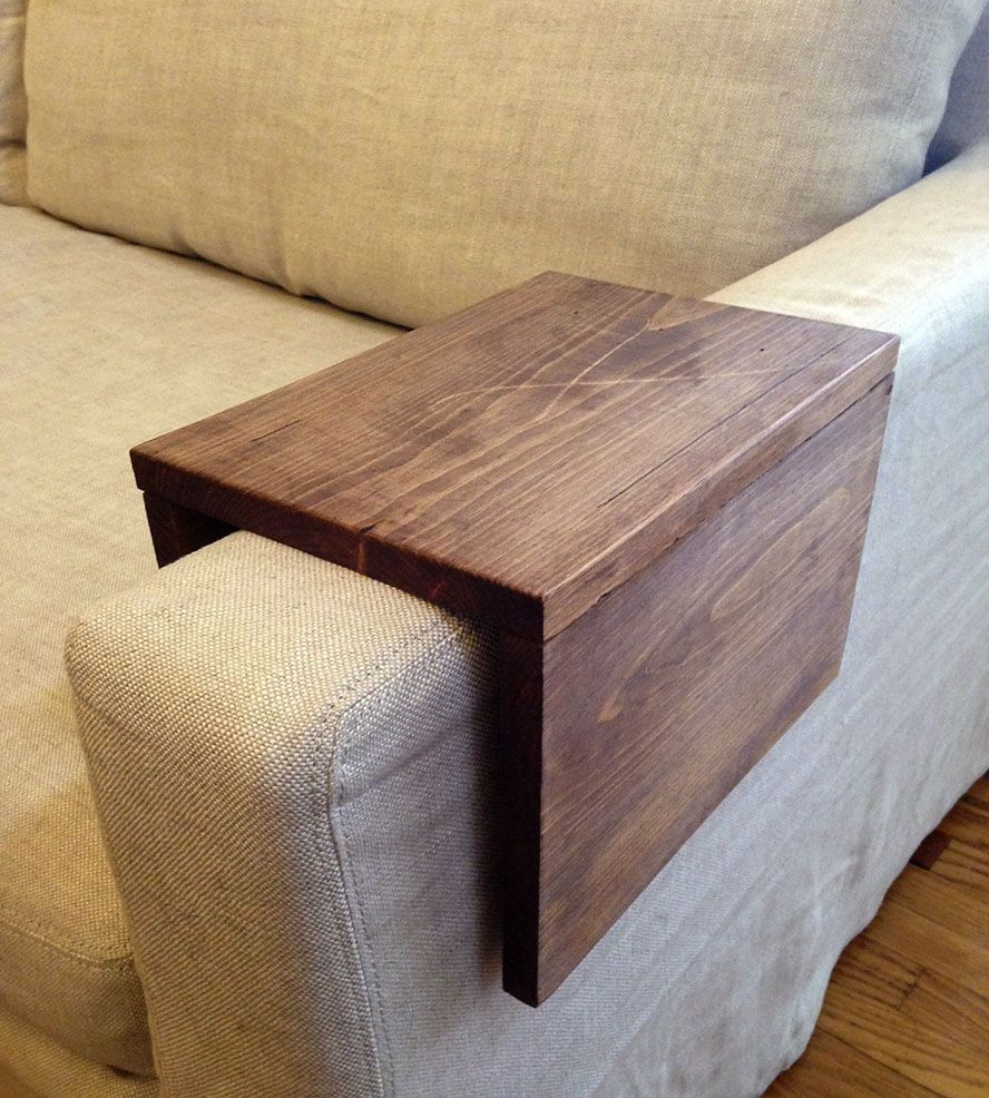 Wood Couch Arm Shelf – Large Large All And Drinks