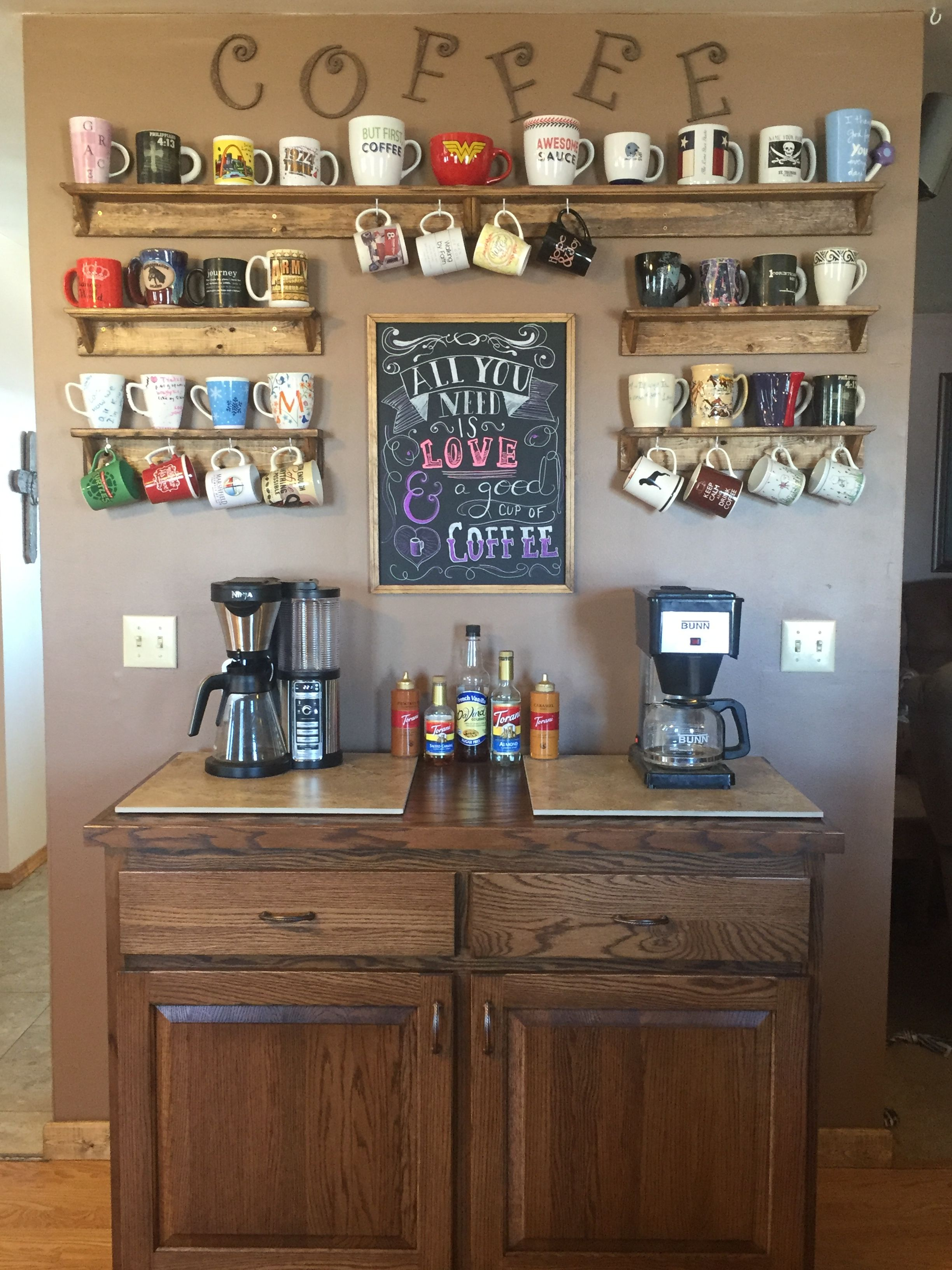 coffee bar in kitchen colorful cabinets yes my is finally complete dream home
