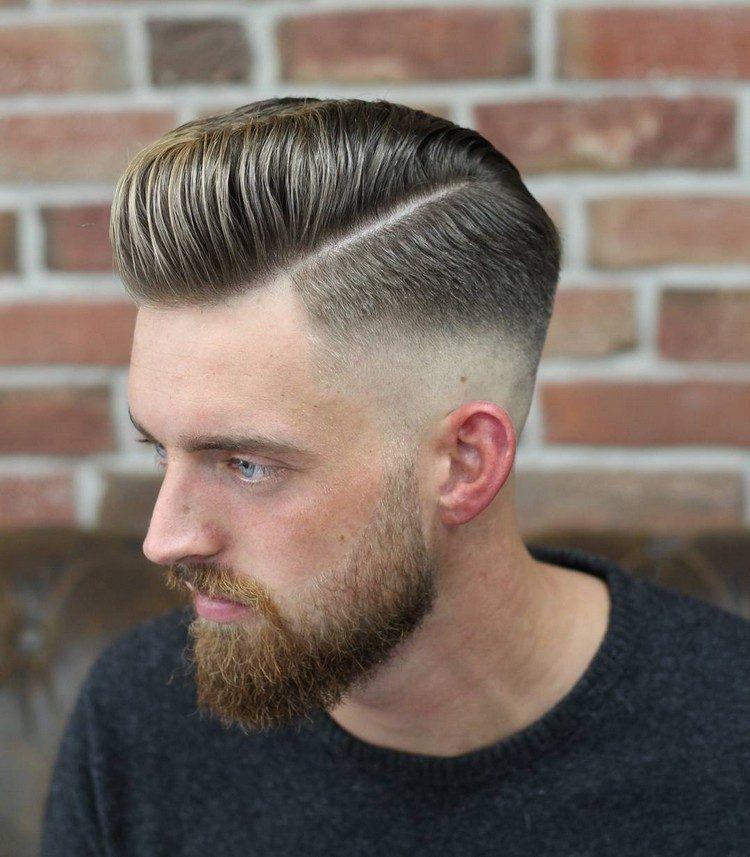 Razor Faded Pompadour Frisur Für Männer Haare Pinterest