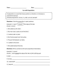 Prepositional Phrases Worksheets | Englishlinx.com Board ...