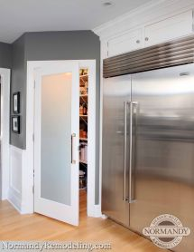 Frosted Pantry Doors with Glass