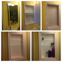 Converted metal medicine cabinet into open shelves...... I ...
