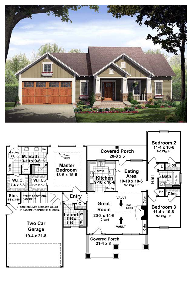 Bungalow Style COOL House Plan ID chp37252  Total