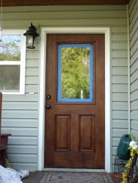 Or, How To Gel Stain An Embossed Fiberglass Door. Remember