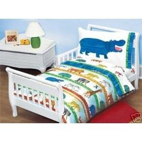 Eric Carle Jungle Animals 4pc Toddler Bedding Set Bag Crib Review