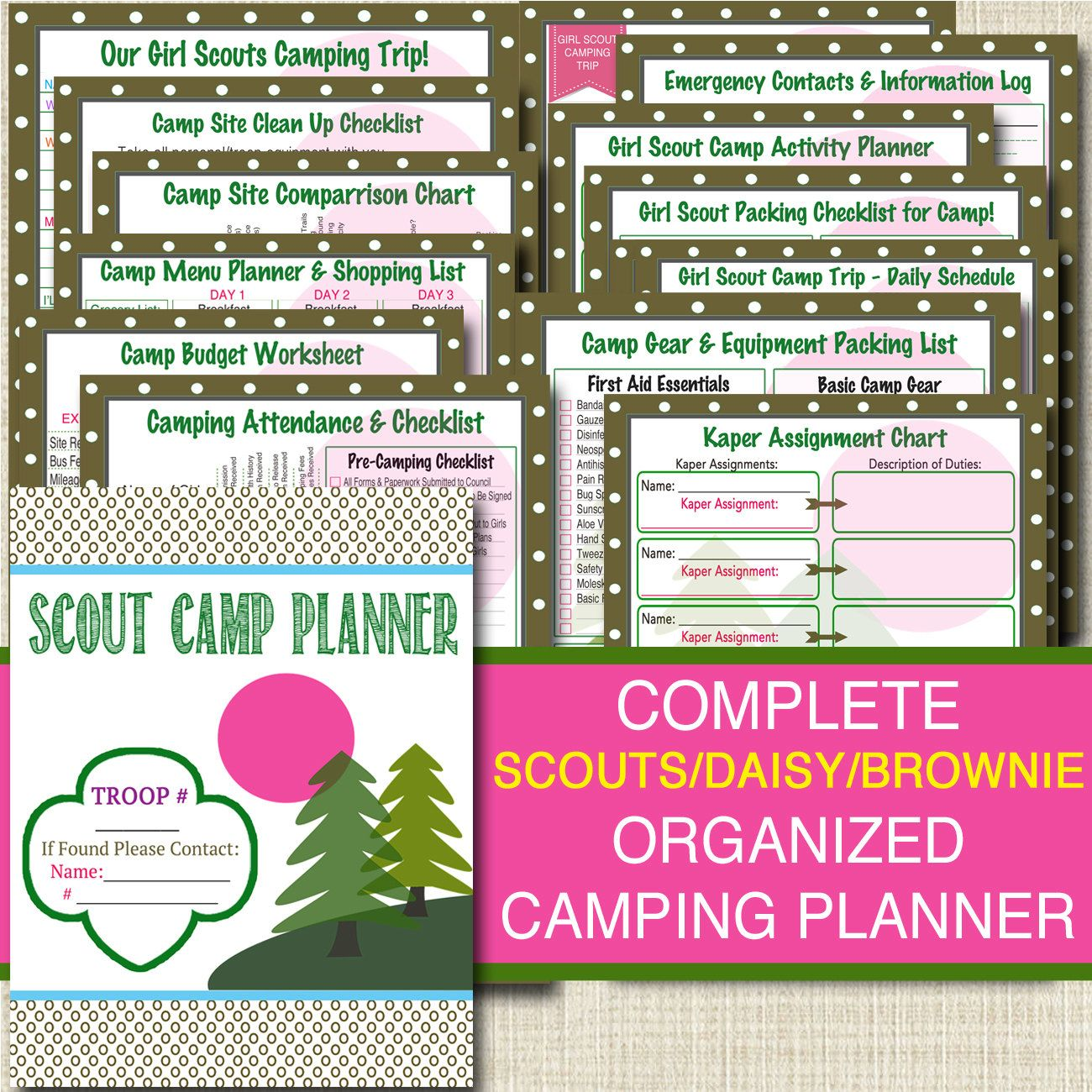 This Awesome Girl Scout Binder Organizer Pack Is Perfect