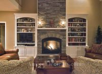 Stone Fireplace Pictures Built Ins Fireplace; built-ins ...