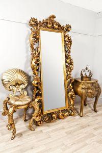 extra-large-decorative-gold-rococo-rectangular-dress ...