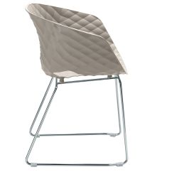 Boondocks Steel Chair Effect Argos Covers Cream Uni Ka 566 P Armchair With Polypropylene Seat And