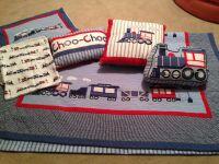 Frolics Boys Train Quilt Set Twin Sheets, Quilt, Sham ...