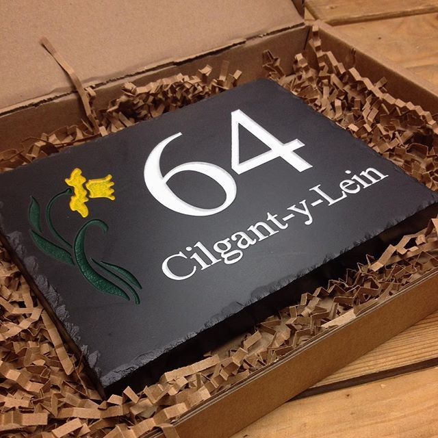 Our Welsh Slate House Signs Can Are Made To Order Design Your Own