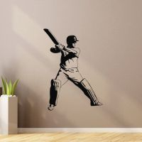 Sports Wall Decal Vinyl Sticker Cricket Bat Ball