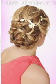 greek goddess updo with braids