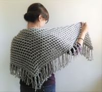 Triangle Scarf Knitting Pattern // Lace Triangle Shawl ...