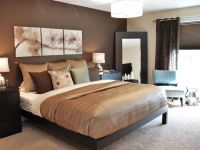 Gorgeous Chocolate Brown Master Bedroom With Dark Storage