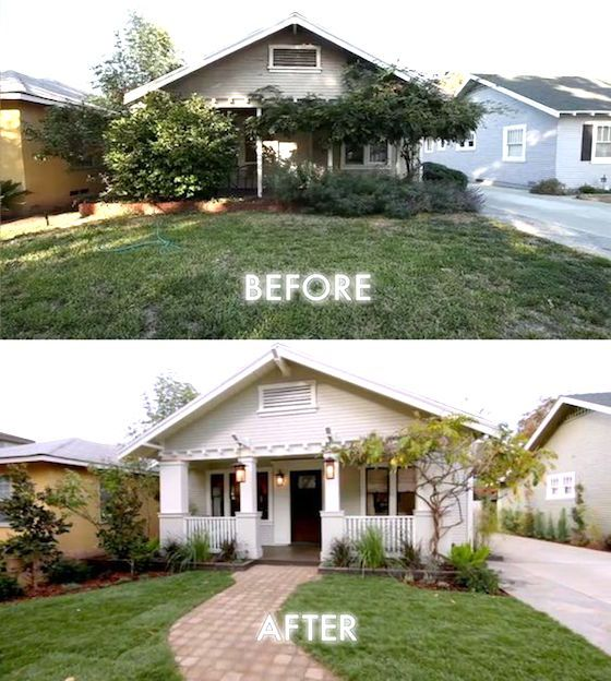 8 Small Homes Get Huge Facelifts Curb Appeal Exterior And House