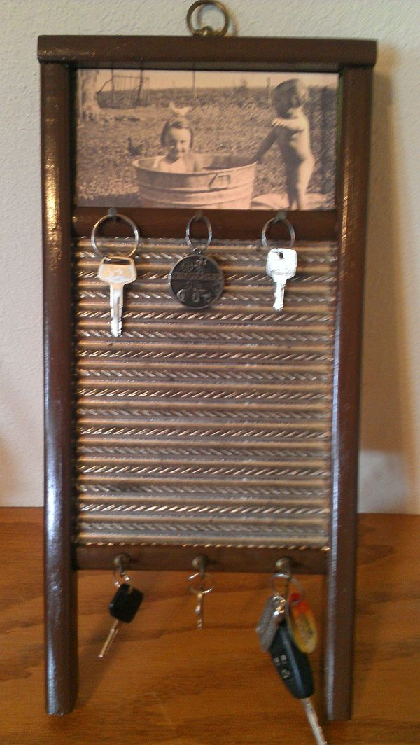 Antique Washboard Sanded Painted Added Of