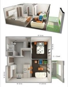 ideas for one bedroom apartment floor plans content inspirations also pin by lusiana julianti on small house pinterest rh