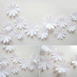 Diy  flowers wall sticker mirror art decal pvc paper for home showcase pcs also rh pinterest