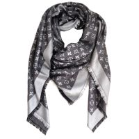 Louis Vuitton Scarf Monogram Denim Shawl Black | Stitch ...