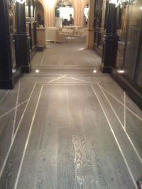 Wood Floor with Metal Inlays | Flooring | Pinterest ...