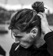 man bun styles ponytail