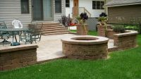 Backyard Patio Pavers | Unilock Paver Patio & Firepit ...