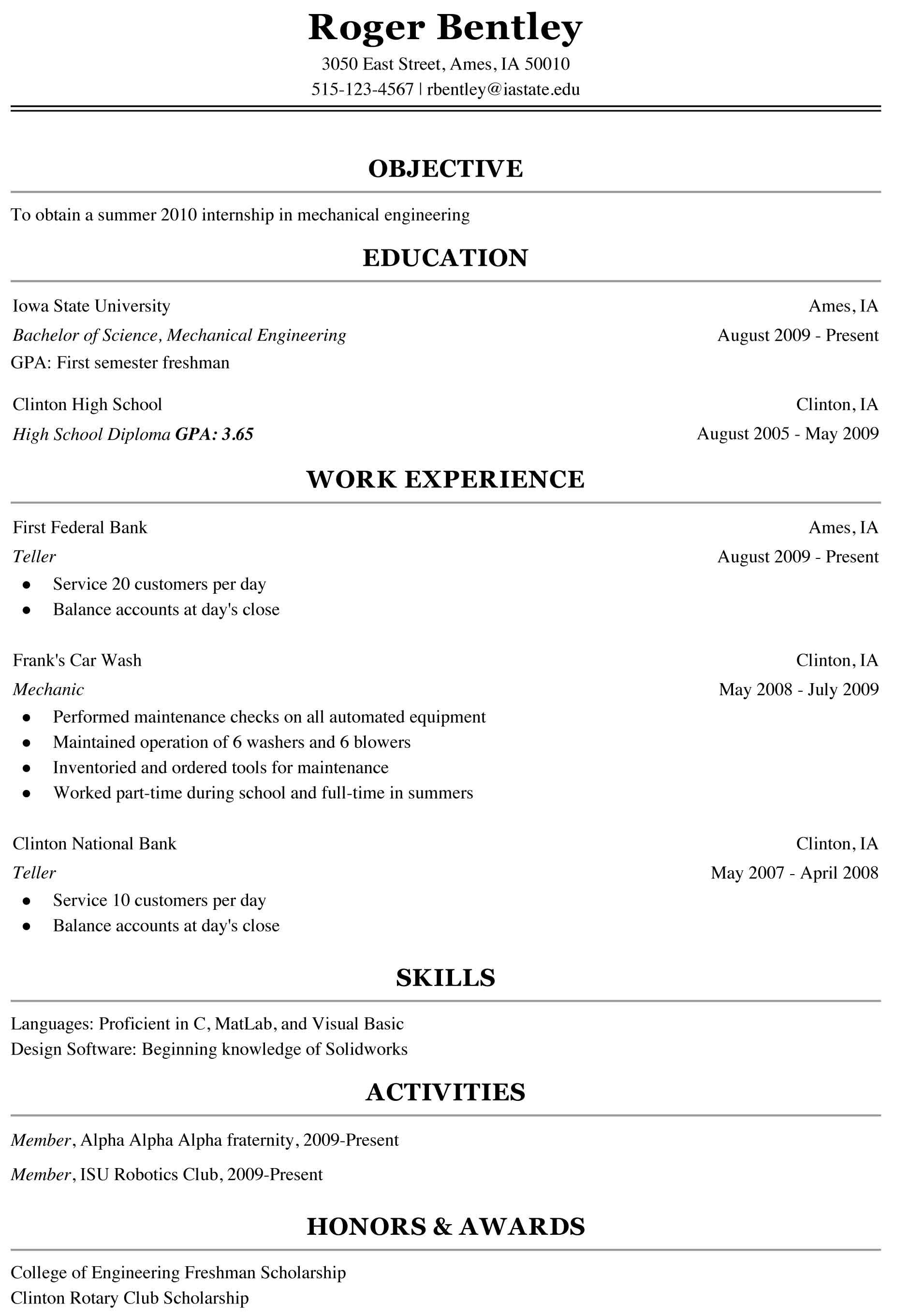 Resumes Examples For College Students Freshman College Student Resume Sample Cover Latter