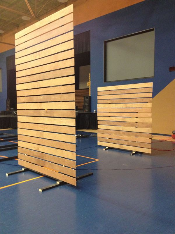 DIY Free Standing Partition Wall Panels
