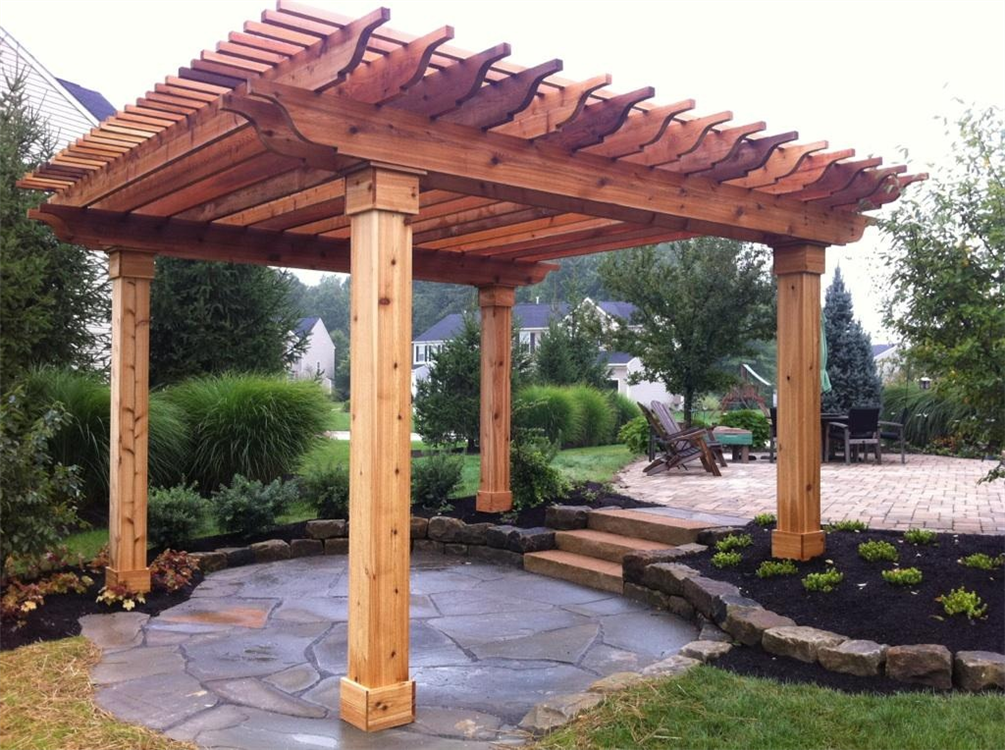 Step By Step Plans To Make An Arbor Like Cedar Structure Build A Pergola With These Free Pergola Plans That Include Building