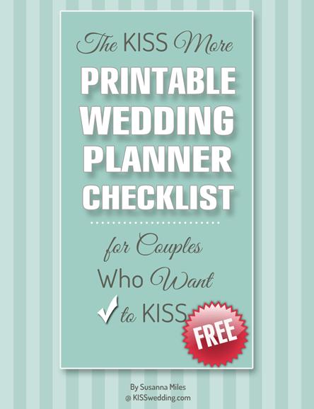 Printable Wedding Planning Timeline Checklist