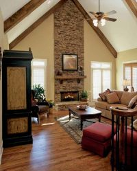 love floors, fireplace and wood on ceiling | For the Home ...