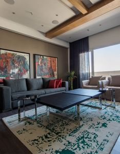 Grey and red living room theme design by ravagh home photo also rh za pinterest