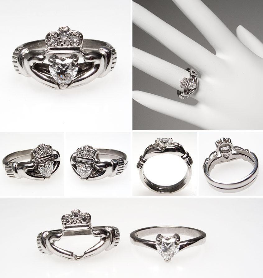I want I want I WANT Irish Claddagh Heart Diamond