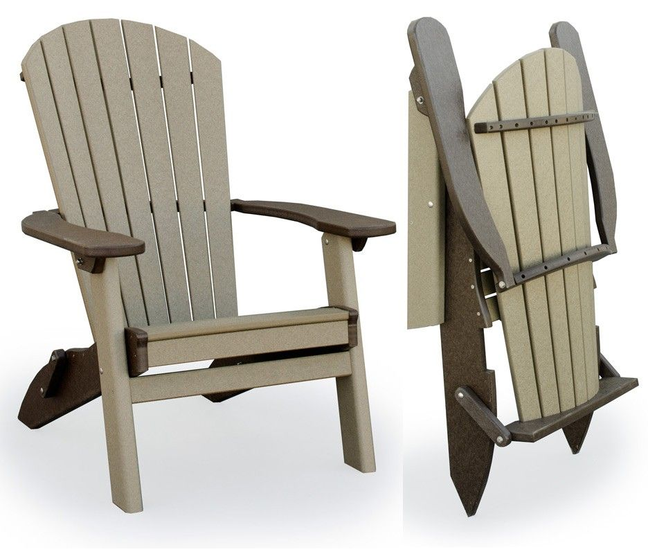 Amish Outdoor Folding Poly Adirondack Chair  Easy