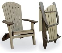 Amish Outdoor Folding Poly Adirondack Chair