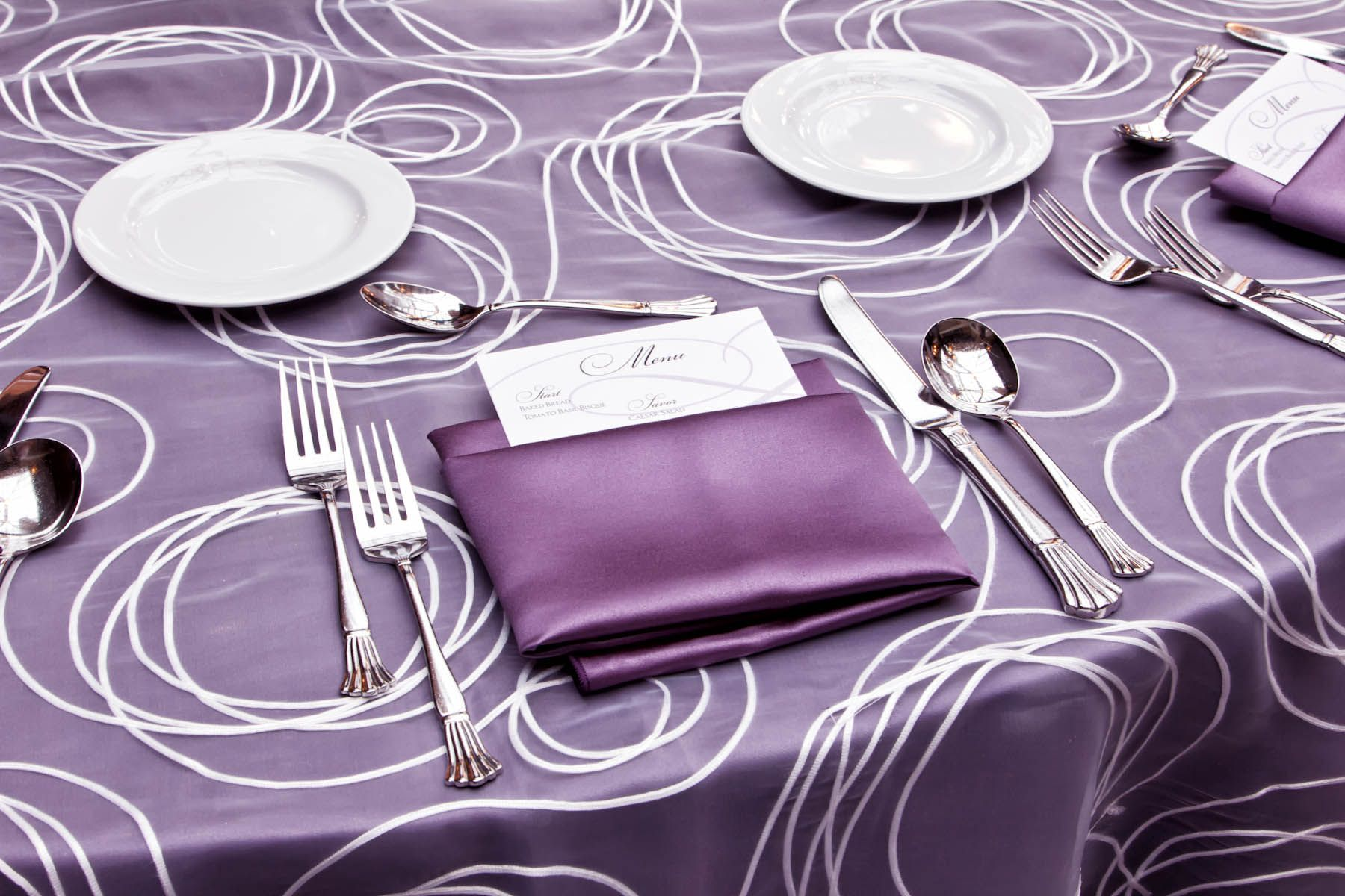 wedding chair covers lilac parsons seat alice overlay on duchess satin victorian table linen