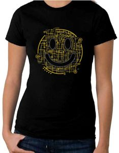 Electric smiley face women    shirt acid rave clubbing circuit board also rh in pinterest