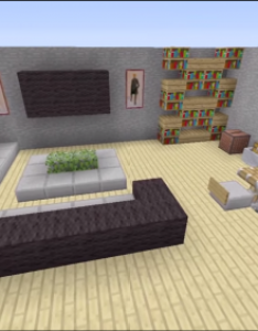 Minecraft house interior living room google search also best images about gamerzone on pinterest survival rh
