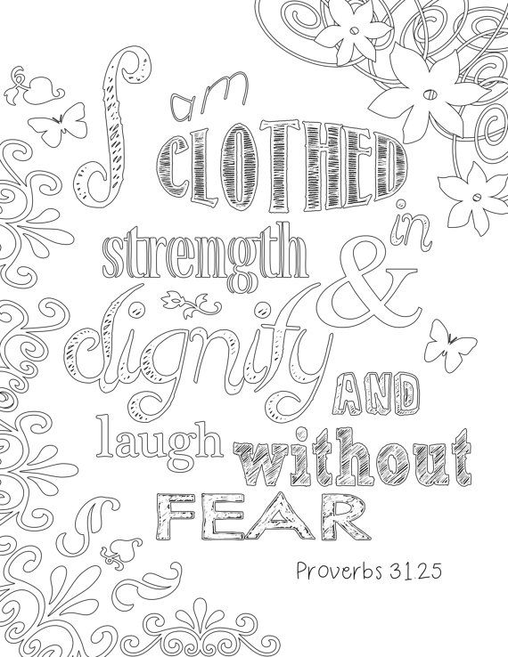 Proverbs 31 Coloring Page by BurlapandSpice on Etsy