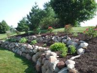 Boulder retaining wall   Landscaping ideas   Pinterest ...