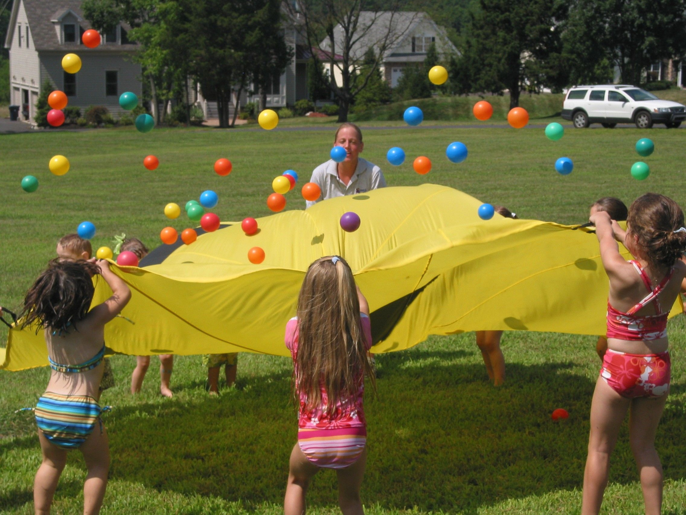 Classic Parachute Game Social Skills Bilateral Coordination Visual Tracking Skills
