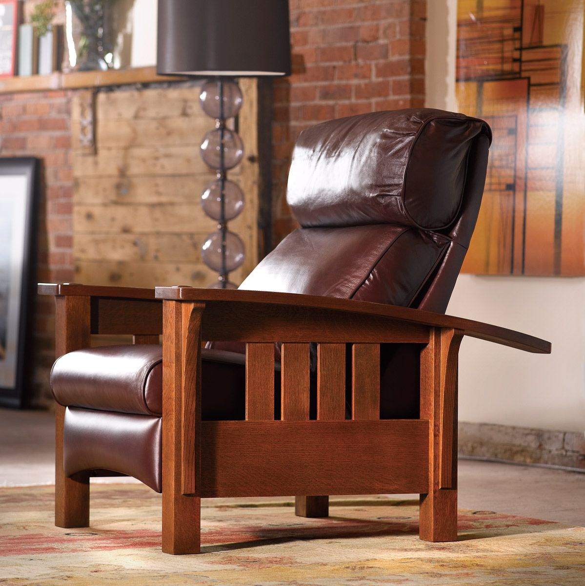 mission recliner chair plans luraco massage review stickley morris living in leather pinterest